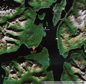Location of Ryøya near Tromsø, Norway. Source: Google Maps.
