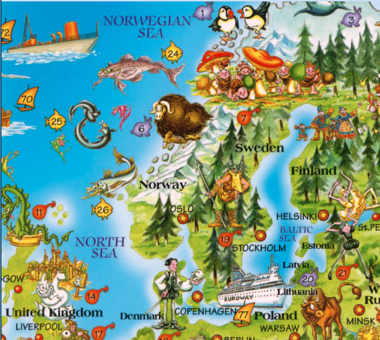 Muskox Page The Return Of Native Nordic Fauna - Norway map game