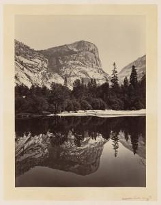 Mirror Lake, Yosemite. Photo by Carleton Watkins, 1865. Library of Congress.