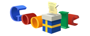 Google doodle for Swedish election day, 14 September 2014