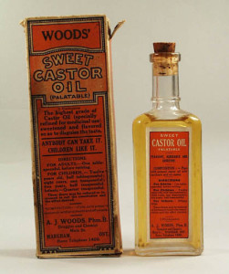 Wood's castor oil. From collection of the Museum of Health Care at Kingston, Artifact 1977.12.20.