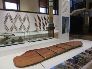 Bark Canoe display, Australian Museum. Photo by D Jørgensen.