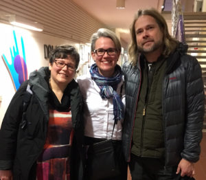 The event at Dalarna University was organised by Albina Pashkevich (middle). Håkan Lindström of Rewilding Lapland also talked at the event.