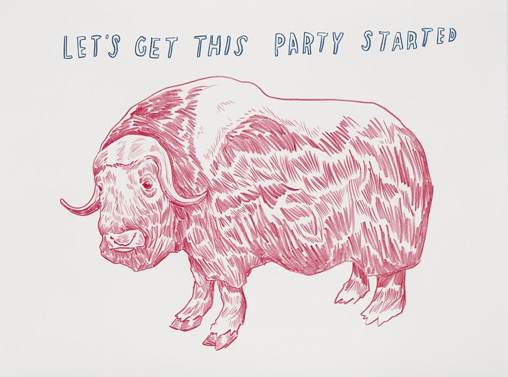 A muskox from Dave Eggers, It is Right to Draw Their Fur (buy the book here: https://store.mcsweeneys.net/products/it-is-right-to-draw-their-fur)
